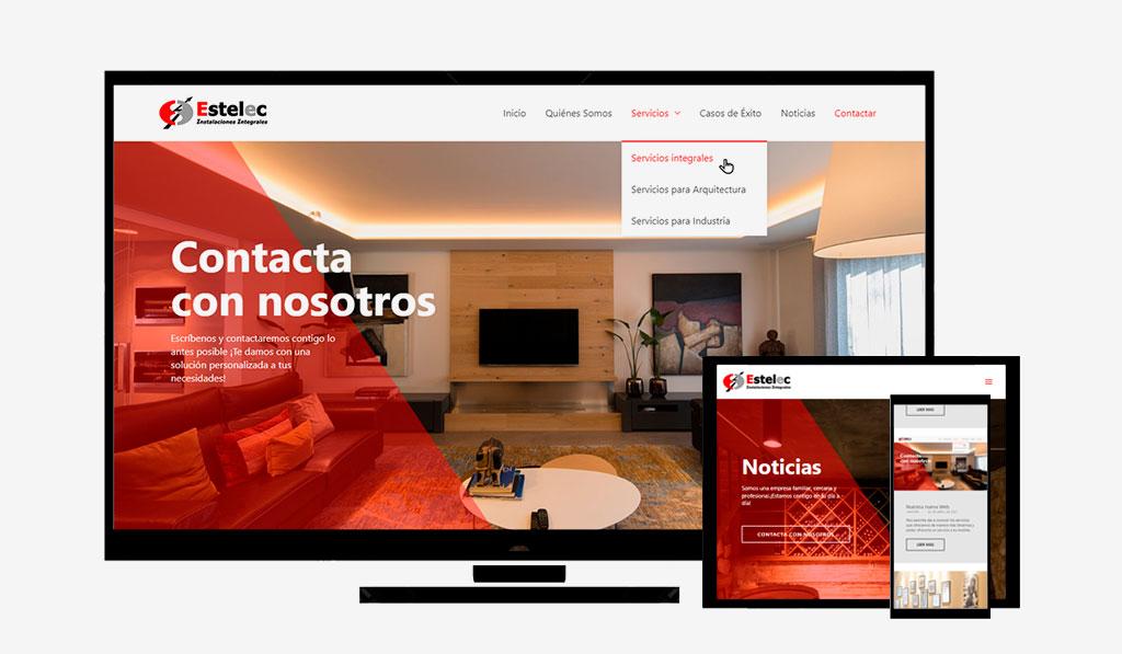 nueva web Estelec Instalaciones Integrales