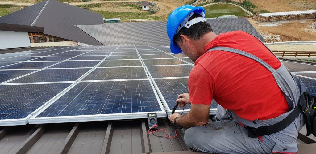 technician, solar panel, renewable